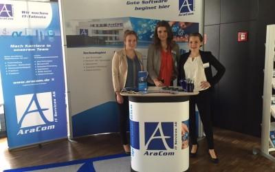 AraCom IT Services AG auf Karrieremessen in Augsburg, München und Stuttgart
