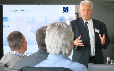 AraCom IT Services AG war Gastgeber des IT-Leiter Kreis Schwaben von bayme vbm